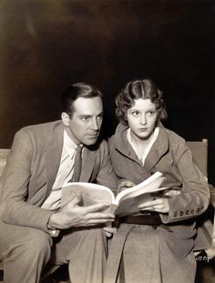 David Manners and Jacqueline Wells in a publicity still from The Black Cat, Universal Pictures, 1934