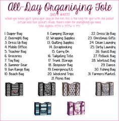 All Day Organizing Tote