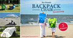 Enter for a chance to WIN! There will be 5 lucky winners. Go to the beach in style this summer. Enter NOW through July 31st, 2017. #riobrandsbackpackchair2017 #riobrands http://woobox.com/d2fj9c