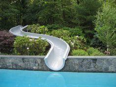 zjeżdżalnia Pool Slide on hillside - contemporary - pool - boston - Timothy Sheehan, ASLA