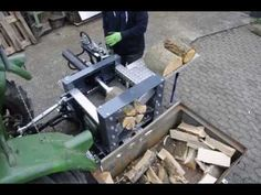 YouTube Firewood Processor, Log Splitter, Tractor Attachments, Wood Cutting, Welding Projects, Youtube, Firewood, Tractors, Custom Knives