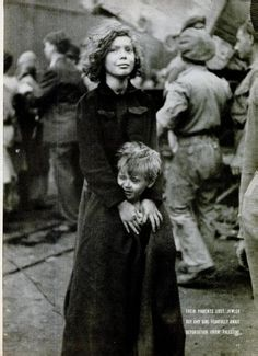 Two Jewish children waiting for deportation from Palestine, December 1946