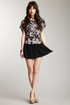 Kensie Crepe Chiffon Skirt <3