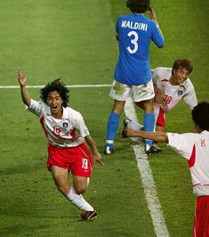 After Korean soccer player Ahn Jung-hwan scored the goal to eliminate Italy from the 2002 World Cup, was his contract cancelled by the Italian club he played at for 'ruining Italian soccer'?