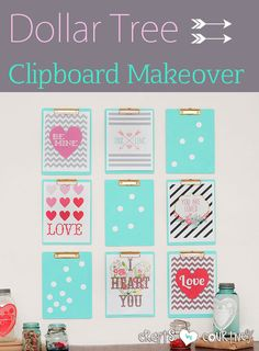 Fill an empty wall with these Dollar Tree clips boards. I gave them a quick makeover!
