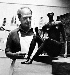 Henry Moore~Henry Spencer Moore OM CH FBA RBS (30 July 1898 – 31 August 1986) was an English sculptor and artist. He was best known for his semi-abstract monumental bronze sculptures which are located around the world as public works of art.