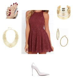 """Untitled #57"" by kaitlynfarrell on Polyvore featuring Lucy Love, Gianvito Rossi, WithChic, BCBGMAXAZRIA and Bony Levy"
