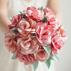 Best For Diy Paper Flowers For Wedding If you are looking for Diy paper flowers for wedding you've come to the right place. We have collect images about Diy paper flowers for wedding includ. Paper Lace, Paper Flowers Diy, Pink Paper, Handmade Flowers, Flower Crafts, Fabric Flowers, Origami Flowers, Rose Wedding Bouquet, Rose Bouquet
