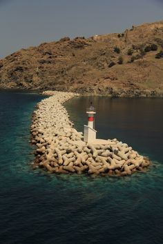 Lighthouse at Lemnos island North east Aegean sea Acropolis, Ancient Greece, Greek Islands, Home And Away, River, Lighthouses, History, Homeland, Nature