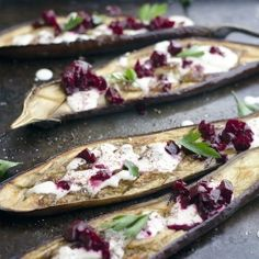 ... pomegranate beets and 'buttermilk' sauce (parsley, beets, eggplant