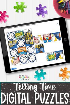 These telling time digital puzzles will have your students reviewing telling time to the half-hour, quarter-hour, 5 minute, or minute in a fun and engaging way! This activity is great for independent work, partner work, early finishers and distance learning. These digital puzzles work on any device with internet connection. Help Teaching, Teaching Resources, Math Websites, Math Strategies, Early Finishers, Telling Time, Elementary Math, Math Classroom, Fun Math
