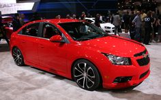 """Chevrolet hopes its Cruze Z-Spec resembles a """"taut touring car."""" It wears Z-Spec… Chevy Cruze Custom, 2017 Chevy Cruze, Chevrolet Cruze, Chevy Cruze Accessories, Car Accessories, 2012 Chevy Malibu, Ford Fusion, Car Tuning, Garages"""