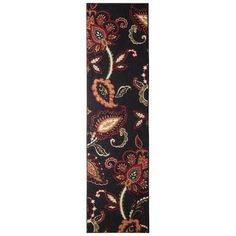 """Maples Exploded Floral Runner - Black (1'10""""x7') from Target.com"""