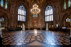 Central Lobby, Palace of Westminster (Houses of Parliament). Charles Barry and Augustus W. Limestone masonry and glass. Diff angle from list. Ap Art History 250, Publisher Clearing House, Flamboyant, Houses Of Parliament, Political Science, Prehistory, Westminster, Art And Architecture, 19th Century