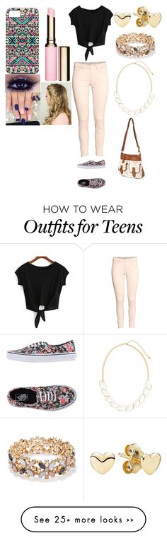 """The Pink And Blue Beauty"" by nsparisqueen on Polyvore featuring Vans, H&M, claire's, Forever 21, Samsung, Pandora, Clarins and ThePinkAndBlueBeauty"