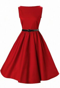 Red 50's style dress- these pins drive me crazy- I want to know where u can find these dresses too!!!!!