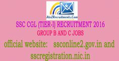 SSC CGL (Tier-I) Group B and C recruitment 2016