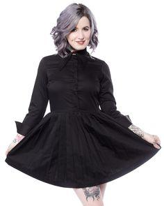 IRON FIST HAUNTED MINI DRESS - Sourpuss Clothing
