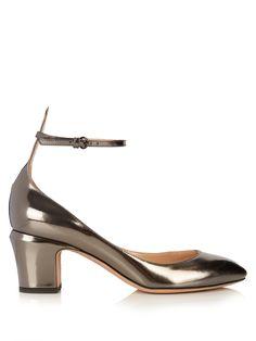 Tango block-heel leather pumps    Valentino   MATCHESFASHION.COM US
