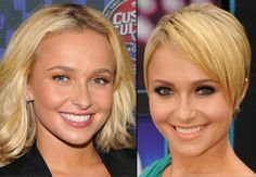 """Heroes"" star Hayden Panettiere's look went from childish to sophisticated when she cut off her long blond hair in favor of a short, layered 'do."