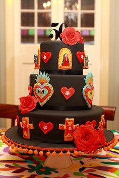 50th birthday Frida Kahlo cake