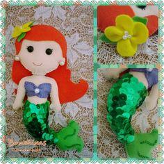 #Ariel #princesa #disney #boneca #feltro #sereia #bonekixas