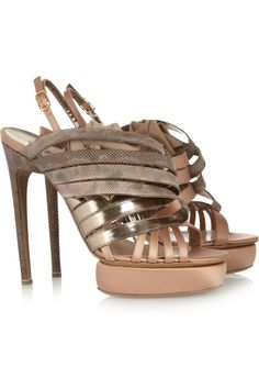 Snake and satin sandals by Nicholas Kirkwood