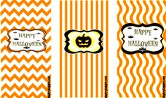 Mini Candy Bar Wrappers Orange Halloween |
