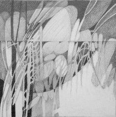 7x7 Composition #12 • graphite • artist: Judith Bergerson