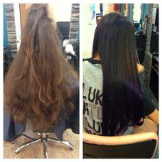 Desgaste de puntas violeta