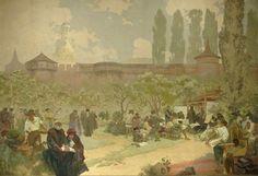 Alfons Mucha Slav Epic   Alphonse Mucha   'The Slav Epic' cycle No.15: The Printing of the ...