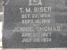 Jennie Irene <i>Thomas</i> Biser