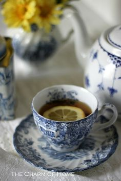 The Charm of Home: Blue & White Tea