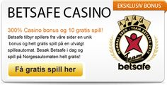 Betsafe Casino http://www.innskuddsbonus.com er et raskt voksede nettcasino som stadig utvider sitt sortiment av casinospill. Ønsker du også å ta del i denne utviklingen kan vi nå garantere deg en fantastisk velkomstbonus hos casinoet. Blir du kunde nå og gjør ditt første innskudd vil motta en eksklusiv bonus på 300%. Dette innebærer at et innskudd på €50 vil gi deg €200 å spille for, noe som gir deg en av de høyeste matchningsprosentene på markedet.