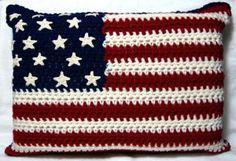 Free American Flag Crochet Pillow Pattern