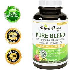Pure Garcinia Cambogia Extract   Green Tea Raspberry Ketones   Green Coffee Bean Extract - Extra Strength Potent And Pure Blend Formula For Weight Loss In Men And Women By Natures Design * Want to know more, click on the image.