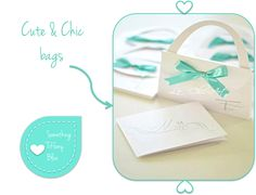 PARTECIPAZIONI MATRIMONIO ORIGINALI: BORSETTE PER L'INVITO DELLE NOZZE By www.SomethingTiffanyBlue.com #wedding