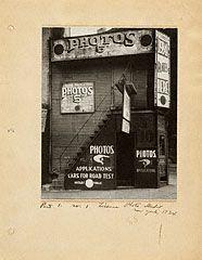 License Photo Studio, New York, Walker Evans, 1934