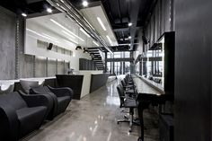 salons   Modern Hair Salon Decorations, Futuristic Hair Dresser Salon Intuitive ...