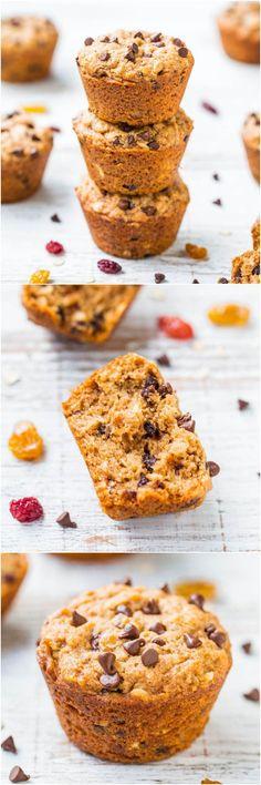 Oatmeal & Chocolate Chip Trail Mix Vegan Muffins