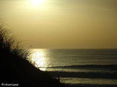 Coucher de soleil sur la plage du Grand Crohot…