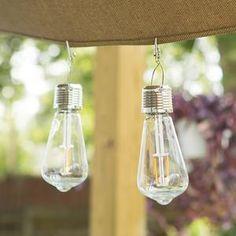 Vintage Edi-Sol Solar Light Bulb (Set of 2) - EchoValley.com Solar Light Bulb, Solar Lights, Patio Umbrellas, Mason Jar Lamp, Hand Blown Glass, Wind Chimes, Light Up, Chandelier, Table Lamp