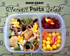 Harvest Pasta Salad packed in an Easy Lunchbox