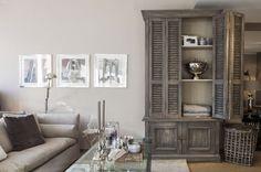 Gray cabinet, cream interior /// Lohmeier Interior Riviera Maison, Lambert, Flamant Living