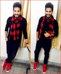 Jassi gill in his favourite Red