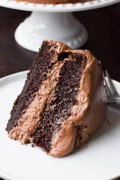 The BEST Vegan Chocolate Cake recipe ever! Super moist and easy to make. #chocolate #noracooks #vegan #dessert
