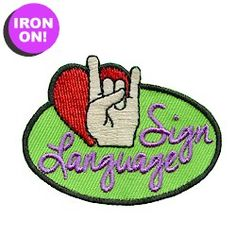 Sign Language Fun Patch. Check out Patchfun.com for all of our Girl Scout Fun Patches starting at $.69