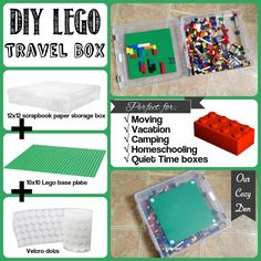 DIY Lego Travel Boxes from Our Cozy Den {click for links to where I got the supplies!}