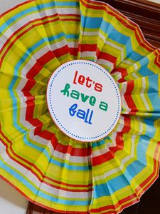 Tissue paper fans! Great party idea!