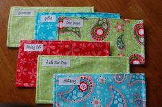 My cash envelopes..love em.